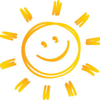 Happy smiling sun.